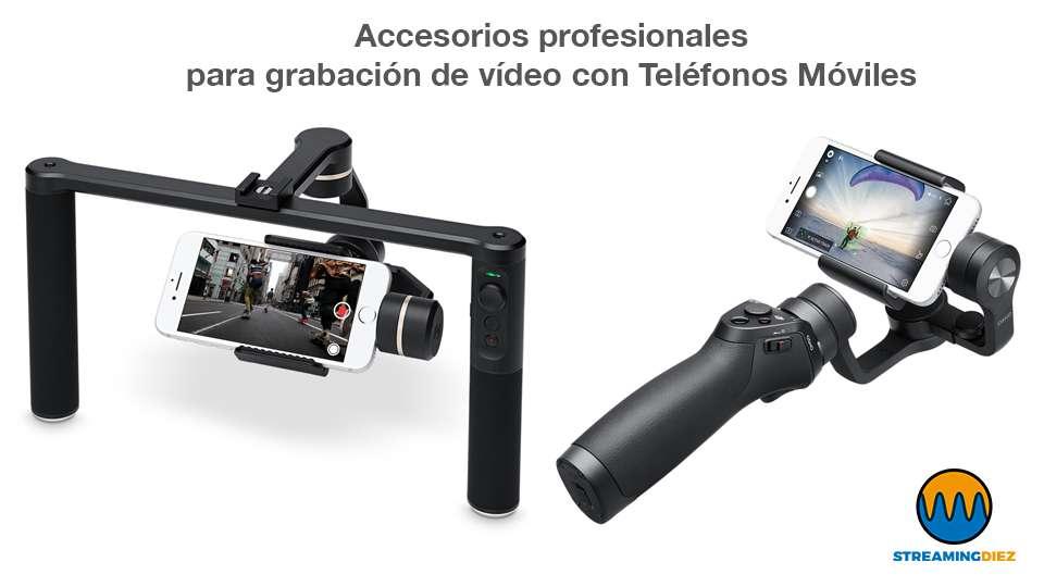 Con un estabilidador profesional de tipo gimbal puedes sacar partido a la alta resolución de las cámaras de los teléfonos móviles actuales