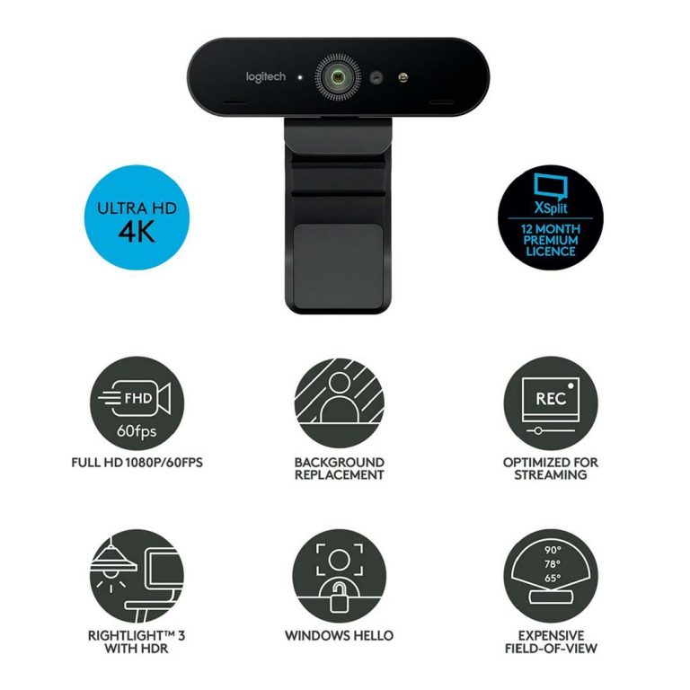 Webcam Logitech Brio 4K características