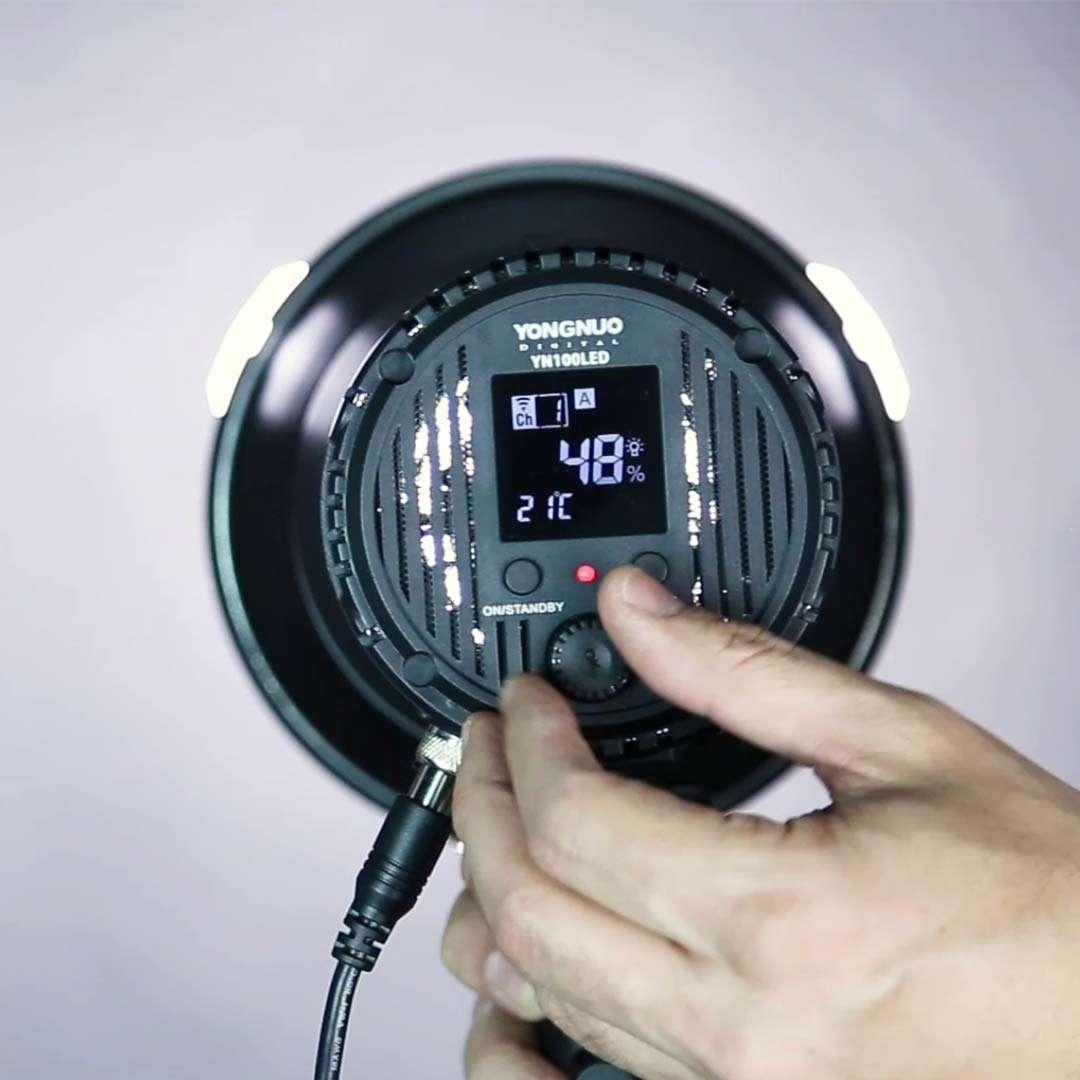 Yongnuo YN100LED potenciómetro de luz trasero