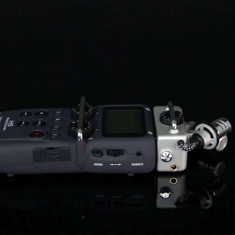 Zoom H5 - Vista lateral con slot para SD y control volumen
