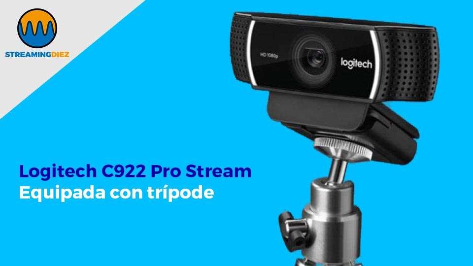 Logitech C922 Pro Stream - equipada con trípode