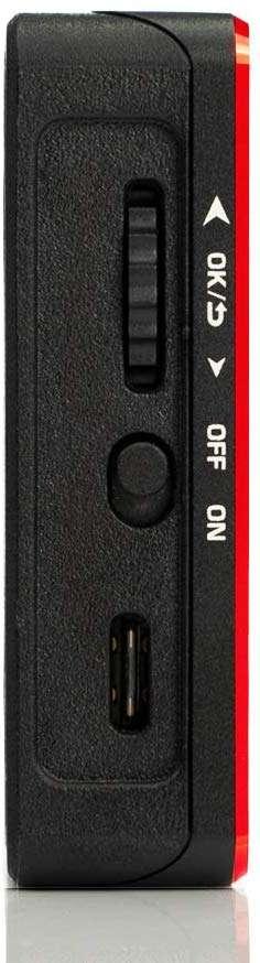 Aputure AL-MC con lateral con controles de temperatura del color, encendido y conector USB-C