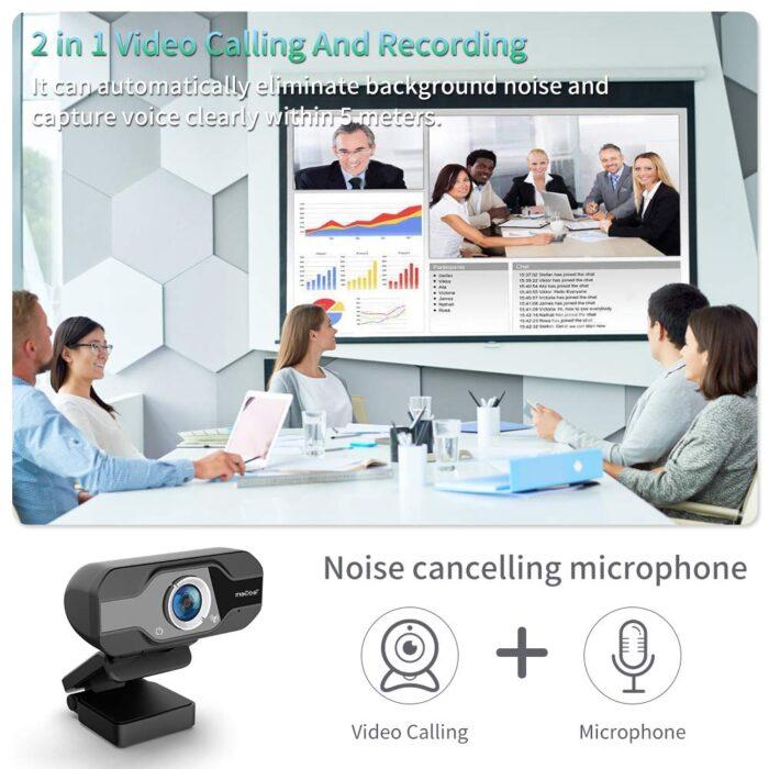La cámara web TedGem USB 1080P puede grabar y llamar a la vez y tiene micrófono de cancelación de ruido