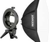 Neewer Speedlite Octagonal Softbox con accesorios de montaje sobre trípode de fábrica