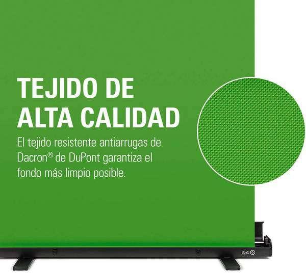 Elgato Green Screen - Panel Chromakey Plegable - tejido y tela de alta calidad