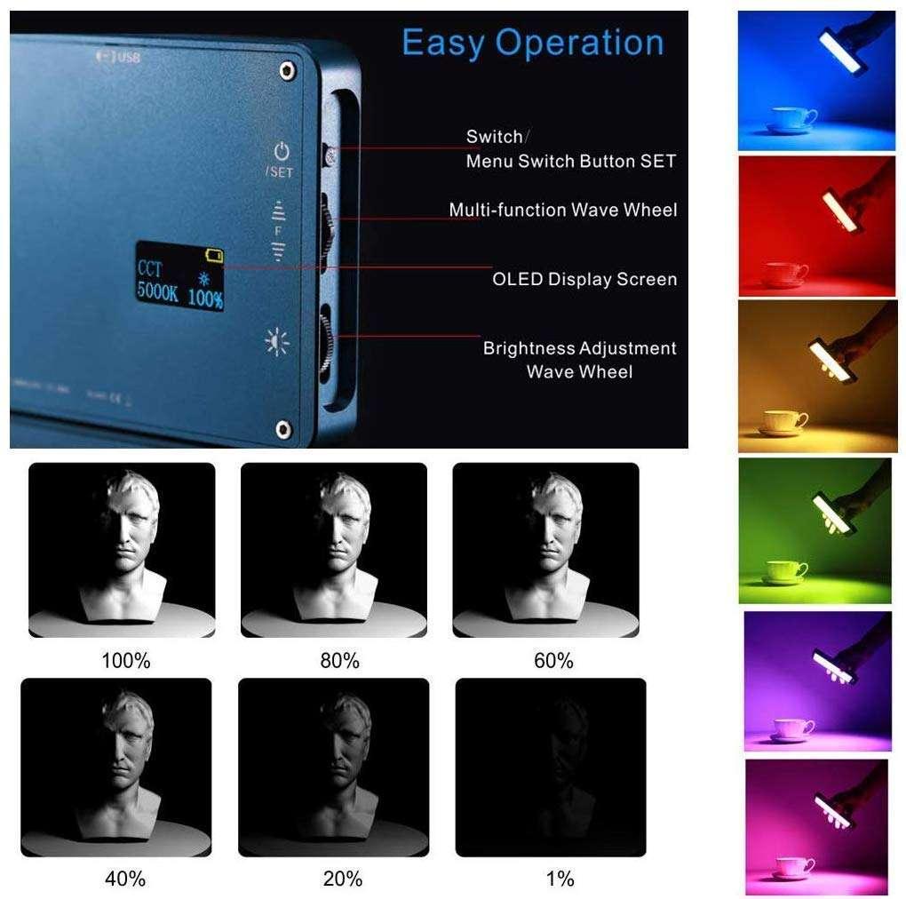 Falcon Eyes F7 RGB LED Video Light - Operación sencilla y fácil