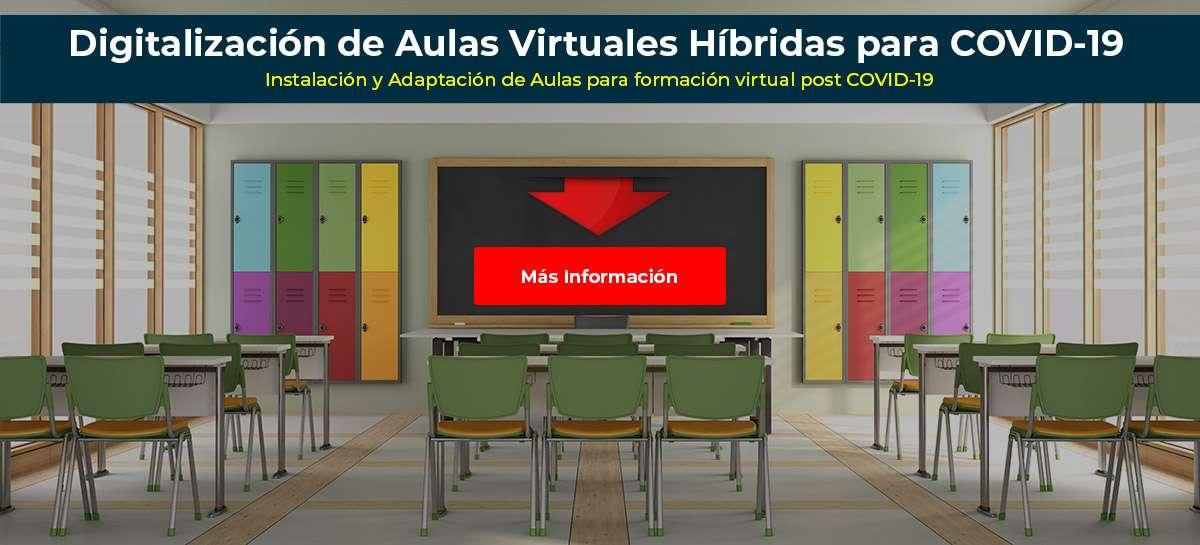 Instalación de Aulas Virtuales para formación virtual post COVID-19, Coronavirus, pandemia, semipresencial, alterna, alternos